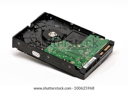Hard Drive Isolated On The White Background