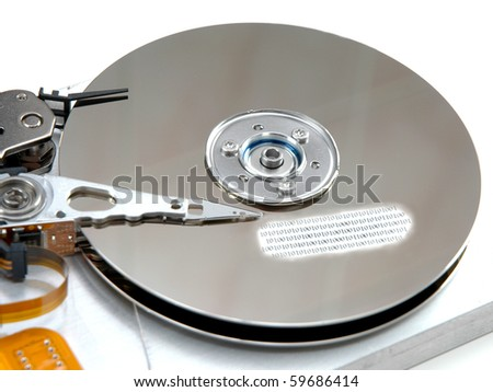 Hard drive with binary data