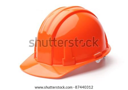 Hard hat, isolated on white background - stock photo