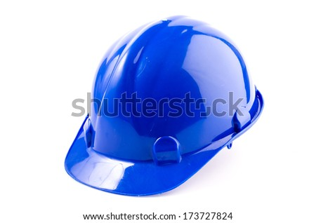 Hard hat , safety helmet on isolated white background - stock photo