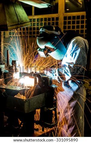 Hard job. Construction and manufacturing - stock photo