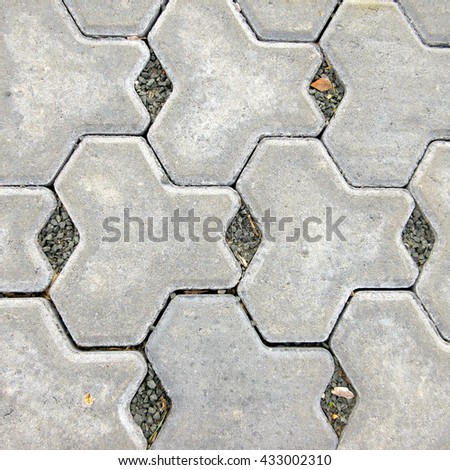 Hard Landscaping - Top View Sustainable Porous Paving (Australia) - stock photo