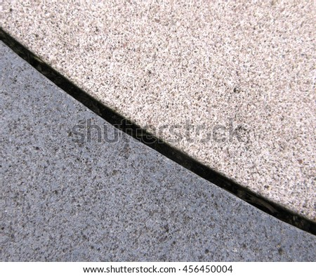 Hard Landscaping - Two Color Paving Edge Detail (Macro, Aerial View)