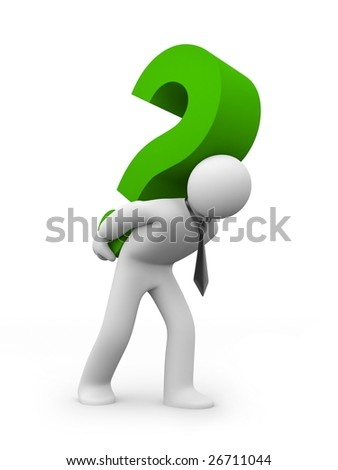Hard question. Business concept - stock photo