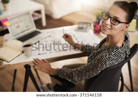 Hard work over an important project - stock photo