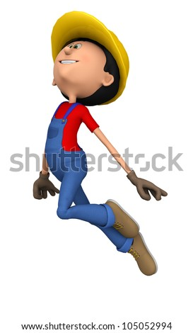 hard worker happy jump - stock photo