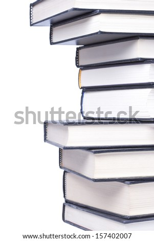 Hardcover Books on a white background