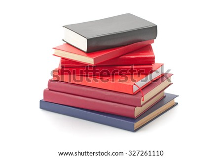 hardcover multicolored cover isolated on white background - stock photo