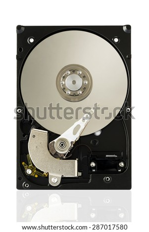 Harddisk Drive on white isolated background with clipping path. - stock photo