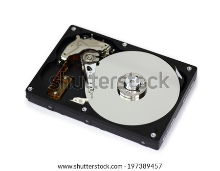 Harddisk isolated on white background.