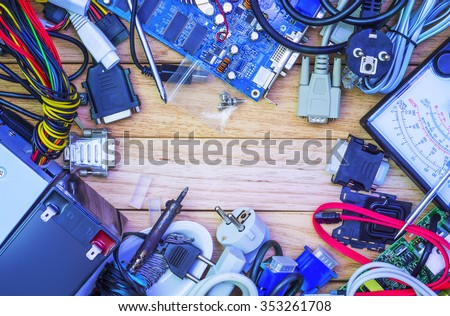 Hardware collected under. - stock photo