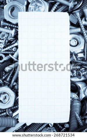 hardware tools as background texture - stock photo