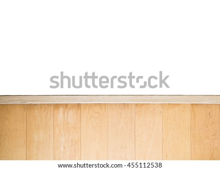 hardwood wall with white wall