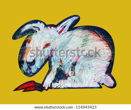Hare, Illustration Abstract