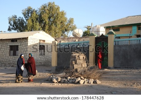 HARGEISA, SOMALIA - JANUARY 8, 2010:Somalis in the streets of the city of Hargeysa. City in Somalia,  capital of  unrecognized state of Somaliland. Much of the population lives in poverty.