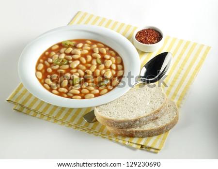 haricot bean food - stock photo