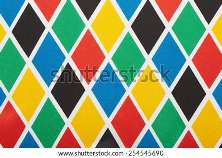 Harlequin colorful diamond pattern, texture background - stock photo