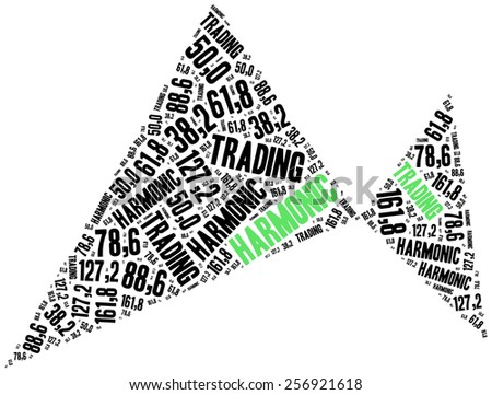 Harmonic trading. Price pattern used in stock market analysis. Financial abstract. - stock photo