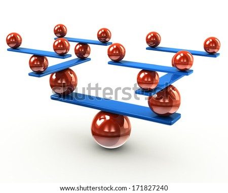 Harmony and balance concept - stock photo