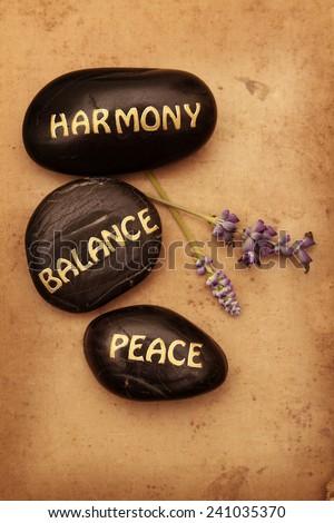 Harmony, Balance, Peace - stock photo