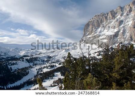 Harmony / Val di Fassa, Sella Ronda, Dolomites, Italy - stock photo