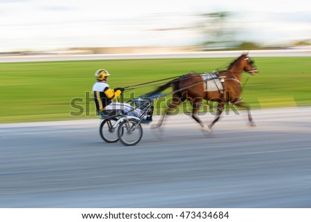 Harness Racing - panned to simulate motion blur