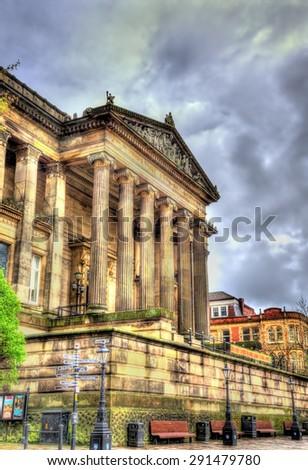 Harris Museum and Art Gallery in Preston - England - stock photo