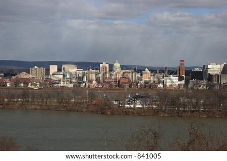 Harrisburg, Pennsylvania skyline. Capital of Pennsylvania. - stock photo