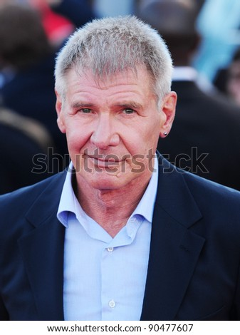 "Harrison Ford arrives for the premiere of ""Cowboys and Aliens"" at the 02 cineworld cinema, London. 11/08/2011 Picture by: Simon Burchell / Featureflash"