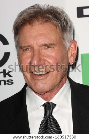Harrison Ford at the 17th Annual Hollywood Film Awards Arrivals, Beverly Hilton Hotel, Beverly Hills, CA 10-21-13 - stock photo