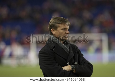 Harrison, NJ USA - November 29, 2015: New Red Bulls coach Jesse Marsch watches game during MLS Eastern Conference Final against Columbus Crew SC at Red Bulls Arena