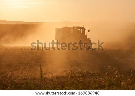 Harvest in Poland - stock photo