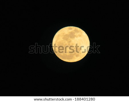 harvest moon - stock photo
