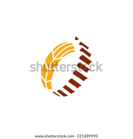 Harvesting abstract sign Branding Identity Corporate logo design template Isolated on a white background - stock photo