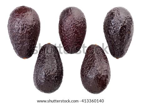 hass avocado isolated - stock photo