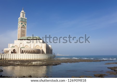 Hassan II mosque, Casablanca, Morocco - stock photo