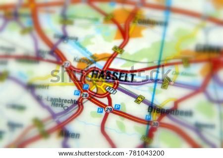 Hasselt Belgian City Municipality Capital Province Stock Photo