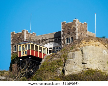 HASTINGS, EAST SUSSEX/UK - NOVEMBER 06 : East Hill Funicular Railway in Hastings East Sussex on November 06, 2016