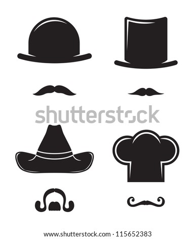 Hat and mustache collection