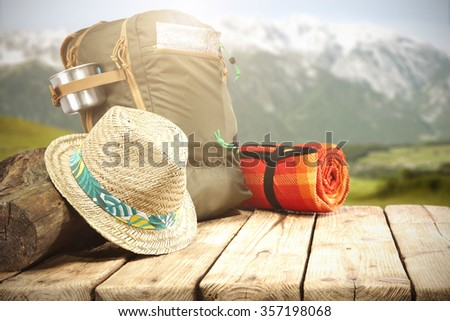 hat and shoes  - stock photo