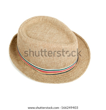 hat closeup isolated on white