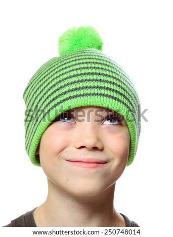 Hat clothing boy - stock photo