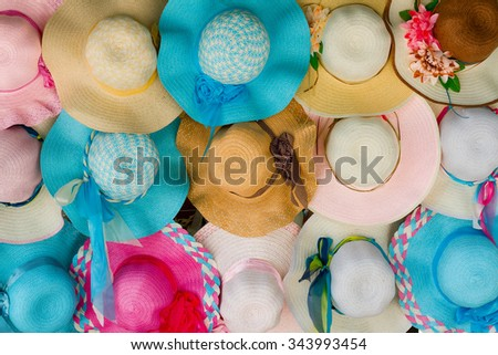 Hat fashion market - stock photo
