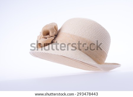 hat for lady or pretty straw hat with flower