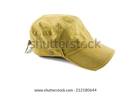 hat isolated on a white background  - stock photo