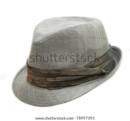 hat isolated on white - stock photo