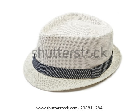 Hat isolated on white background - stock photo