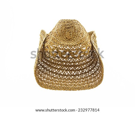 hat isolated on white background, cowboy hat - stock photo