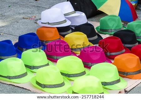 Hat market - stock photo