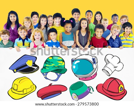 Hat Occupation Dream Job Goal Expertise Concept - stock photo